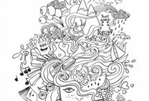 Adult Coloring Posters