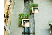 Square landscape design