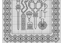 Blackwork embroidery