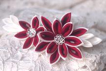 flores kanzashi
