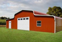 Barn Designs / Creative metal barn designs and plans for economical storage for homes and ranches.