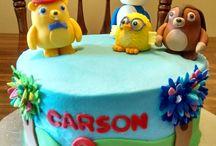 Mikos first birthday / Ruff ruff tweet and Dave theme / by Dayo M