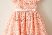 Rosette Flower Girl Dresses