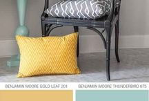 Yellow, Teal and Gray Deco