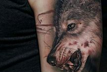 Tattoos with Wolves