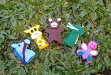 my hand made dolls / its made from felt. about 20 cm tall.