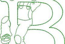 letras bordads