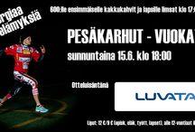 Otteluilmoitus Pesäkarhut vs. Vuokatin Veto / Otteluilmoitis Pesäkarhut vs. Vuokatin Veto
