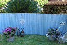 B Cottage Collection / Painted Composite Wood fences, edging, panels and treillis