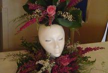 Cabezas y flores