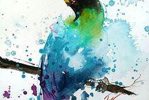 Tilen Ti pintura em aquarela