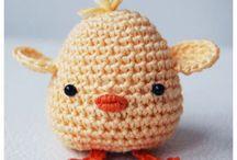 velikonoční háčkované ozdoby / Easter decorations crocheted / Velikonce / Easter