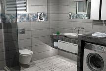 OPEN SPACE / Κατασκευή μπάνιου σε μονοκατοικία στο Λιτόχωρο Κατερίνης. Ο σχεδιασμός βασίστηκε στα πλακάκια από την συλλογή Seattle.