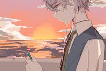chłopcy anime