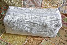 Quilt boutis / Méthode traditionnel du sud de la France. Bourrage de mèches dans des tunnel Quiltés au préalable