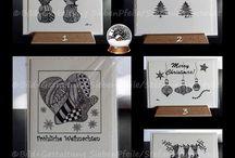 Zen-ART Weihnachts-Gruß-/Faltkarten