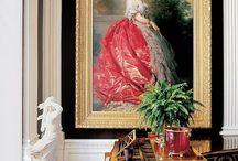 Beautiful paintings in the beautiful interiors
