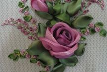 вышивка лентами/ κέντιμα με κορδέλα/ silk ribbon embroidery.