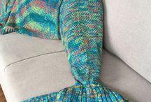 Mermaid Shaped Blanket