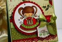 Christmas card. Handmade