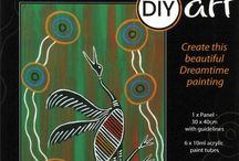 Dreamtime DIY Art / Artist:  Michael J Connolly (Munda-gutta Kulliwari)  Create your own beautiful Dreamtime painting.   Click on this link to see How Easy Video  This 10 piece kit includes as well as Dreamtime Story & Artist details:-  1 x Art Panel (30cm x 40cm) with guidelines 6 x 10ml acrylic art tubes 3 x Artist brushes Download Order Form or Email for further enquiries