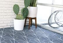 Painted, Printed, Patterned Tile- your favorite cement, encaustic and ceramic tiles