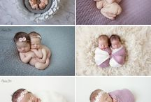 TWIN NEWBORN PHOTO IDEAS / Celebrate your twins birth!!!  Check out these pins for some inspiration for your super cute twin photos.