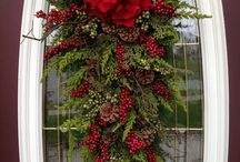 external xmas wreaths and decorations