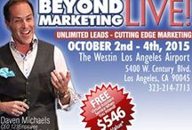 Beyond Marketing LIVE 2015 / Discover the Secret to Doubling Your Income, Slashing Your Workload in Half, and Creating a Whole New 'Freedom Lifestyle' For Yourself. http://beyondmarketinglive.com/