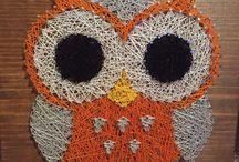 Nail yarn art