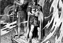 illustrations - Severin, Marie and John