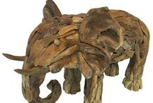 Driftwood Elephant / Suitable for larger gardens or estates, our driftwood elephant is handcrafted from teak tree roots. With the visual impact of driftwood, but  with more durability and weather resistance, due to the high oil content of its wood, making it ideal for outdoor spaces. Our driftwood elephant comes in different sizes. For more information or a quotation, please visit our webpage, http://www.driftwoodhorse.co.uk/driftwood-elephant.html or call us on 0845 3731 832