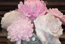 soaps flowers / krásne mydielka odlievané