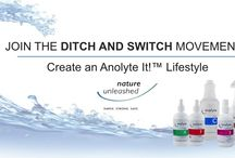 Join the Ditch and Switch Movement / Ditch harmful chemicals and Switch to Anolyte, a revolutionary new kind of clean.  Harmful to pathogens, but not people or pets!
