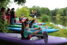 Stages d'été canoë-kayak / Stage d'été en canoë-kayak pour les 8-16 ans : découverte et initiation à la pratique du canoë-kayak dans une ambiance sportive et surtout fun !