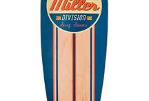 40 Classic · Miller Division · Longboard / Un pintail con 8 láminas de arce canadiense, cóncavo medio y  con las ruedas Seismic Hot Spot de serie http://millerdivision.com/productos/73-classic