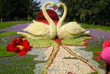 çiçek heykeller