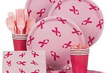Breast Cancer Awareness / Think Pink and show your support.  Whether you're hosting a fundraiser or charity event or just want to celebrate Breast Cancer Awareness Month, these party ideas and supplies have you covered!