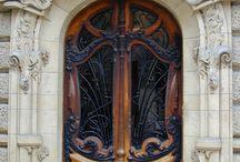porte d'entrée art nouveau