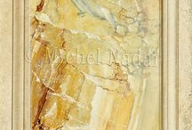 Faux Art / Beautiful trompe l'peil, imitations of wood and marble!