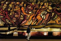 #SiqueirosVidaYObra / Este lunes 6 de enero se cumplen 40 años del fallecimiento de David Alfaro Siqueiros (Ciudad de México, 29 de Diciembre de 1896 - Cuernavaca, 6 de Enero de 1974), pintor mexicano y una de las máximas figuras del muralismo en ese país, quien además es considerado un símbolo del denominado arte proletario y el más evidente enaltecedor de los ideales revolucionarios