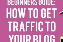 Increase Blog Traffic Tips / The first step to selling your products is to get more traffic to your content! Pinning tips to help you increase blog traffic, increase blog traffic from Pinterest, blog traffic tips, social media marketing for traffic, and more.