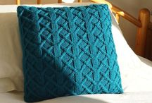 Knitted Pillow Covers / Original hand knitted cushions