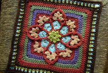Granny squares crochet / by lanasyovillos .