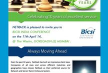 BICSI India District Conference & Exhibition 2014 / Dear all, Netrack Invites you for  BICSI India District Conference & Exhibition 2014 which is scheduled for the 11th April, 2014 at The Westin, Goregaon (E), Mumbai Kindly register Online  for attending the Conference  http://infinios.in/bicsi/2014 Look forward to your support and active participation  Note – There is no Spot Registration. Kindly register online