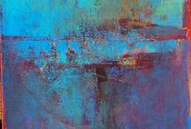 Blå Målningar