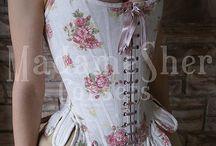 Boning on corset