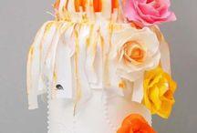 krásný býlo orandžový dort :D