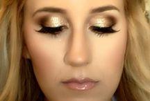 Bridesmaid and bridal makeup with metallic tones