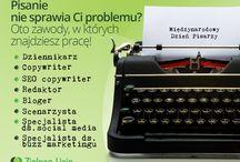 Międzynarodowy Dzień Pisarzy / Międzynarodowy Dzień Pisarzy jest obchodzony właśnie dzisiaj! Kto z Was świętuje? Stworzyliśmy listę zawodów, gdzie przydaje się tzw. lekkie pióro.
